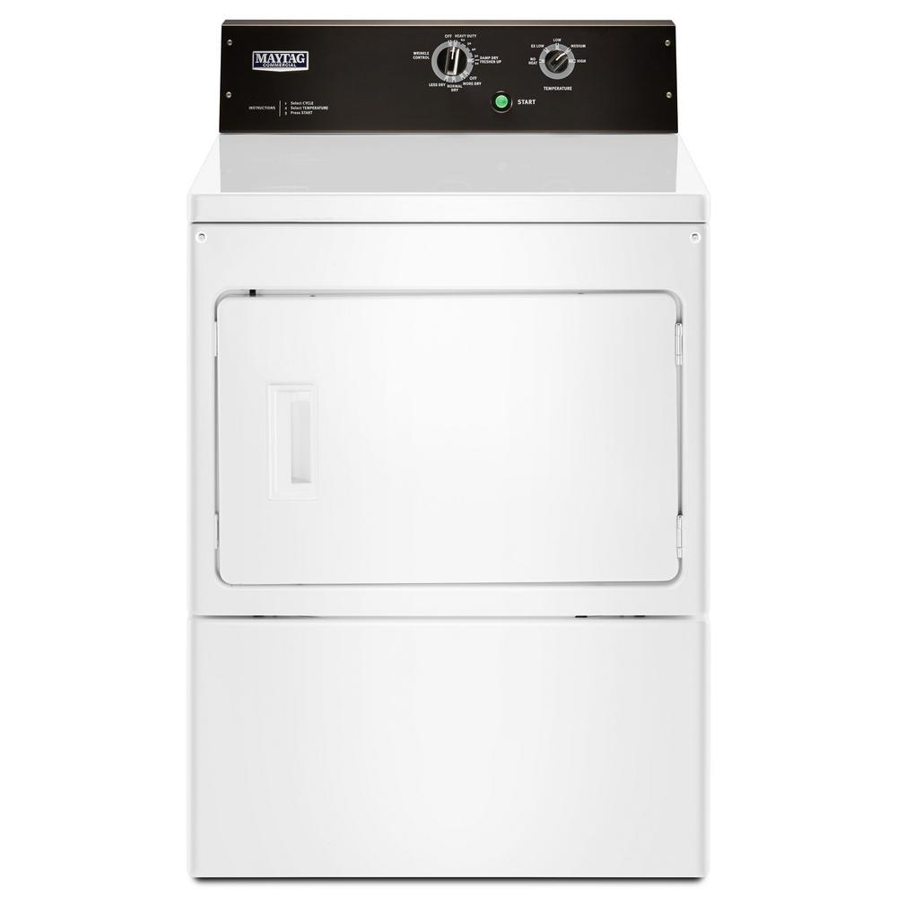 7.4 cu. ft. Commercial-Grade Residential Dryer in White