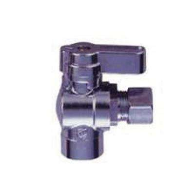 1/2 in. Sweat Inlet x 3/8 in. O.D. Compression Outlet 1/4-Turn Angle Ball Valve (10-Pack)