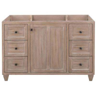 Banks 48 in. W x 21 in. D Bath Vanity Cabinet Only in Antique Ash Grey