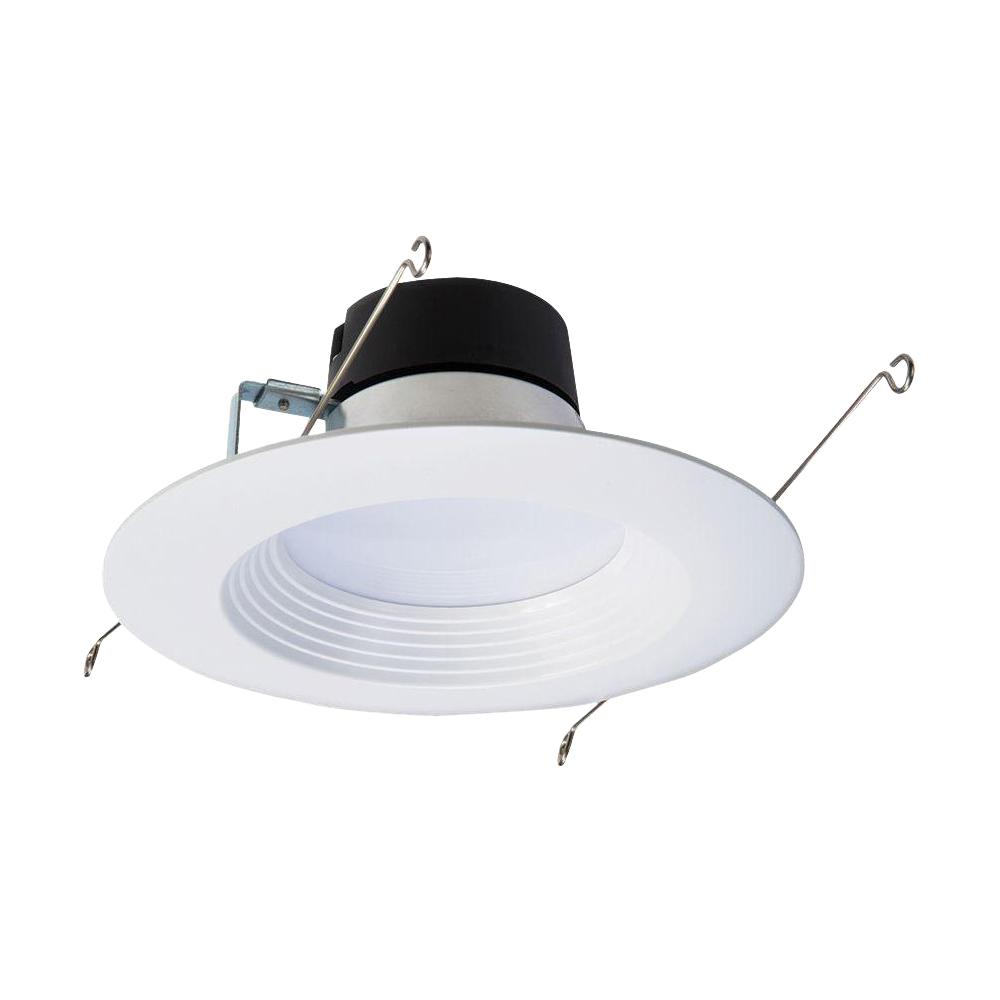 Halo Lt 5 In And 6 White Integrated Led Recessed Ceiling Light Fixture Retrofit Downlight Trim 90 Cri 3000k Soft