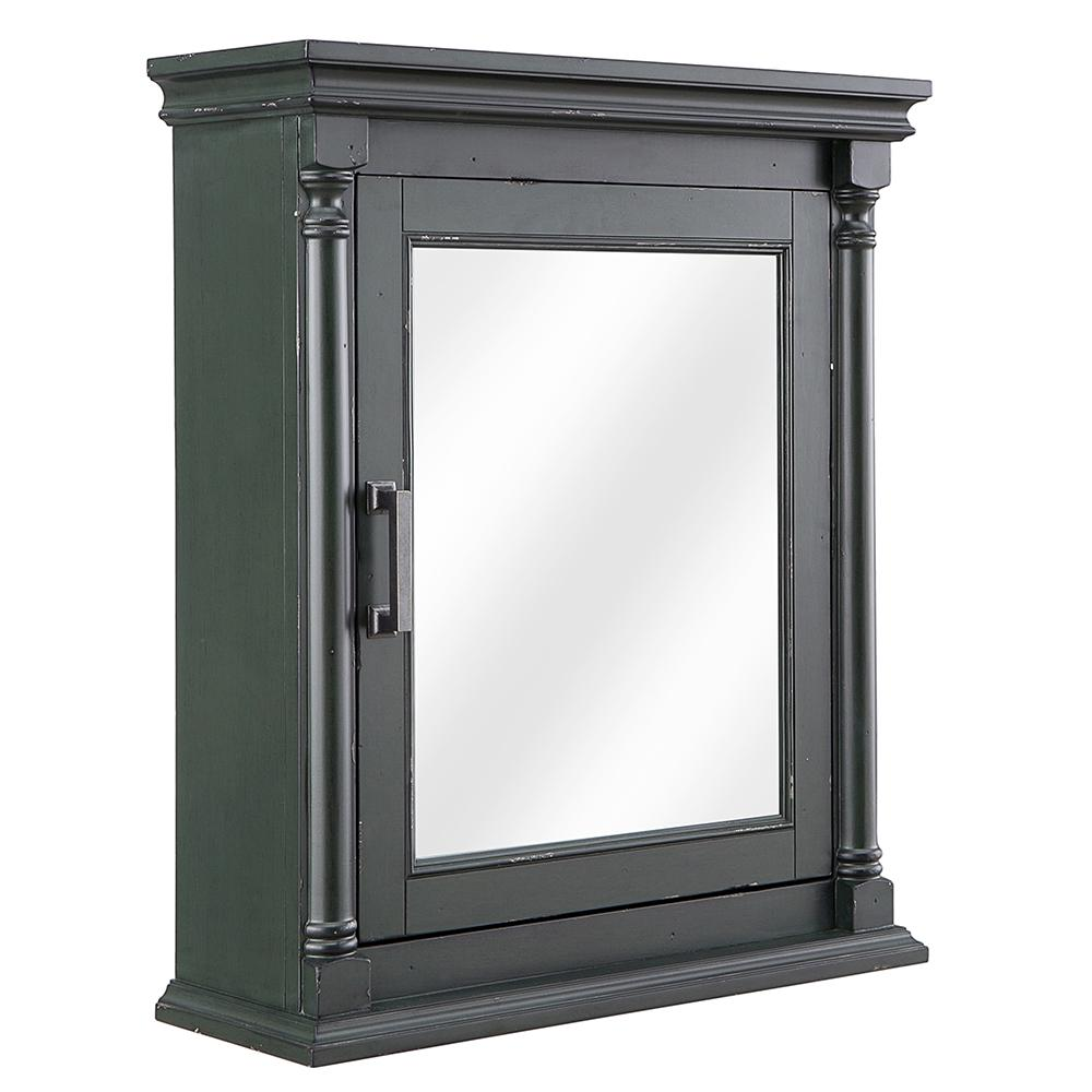 Home Decorators Collection Greenbrook 25 In W X 30 H Surface Mount Mirrored