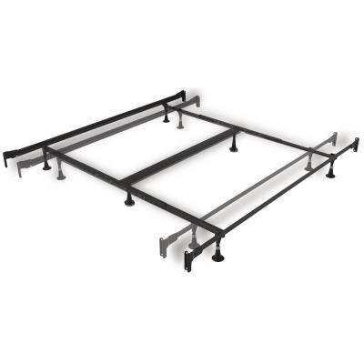 Twin XL and King Engineered Adjustable Bed Frame with Fixed Head and Food Panel Brackets and Six Glide Legs