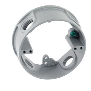 1/2 in. Gray 4-Holes 4 in. Round Weatherproof Extension Ring