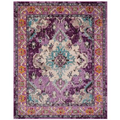 Monaco Violet/Light Blue 9 ft. x 12 ft. Area Rug