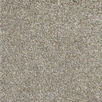 Carpet Sample - Soft Breath II - Color Lancelot Texture 8 in. x 8 in.