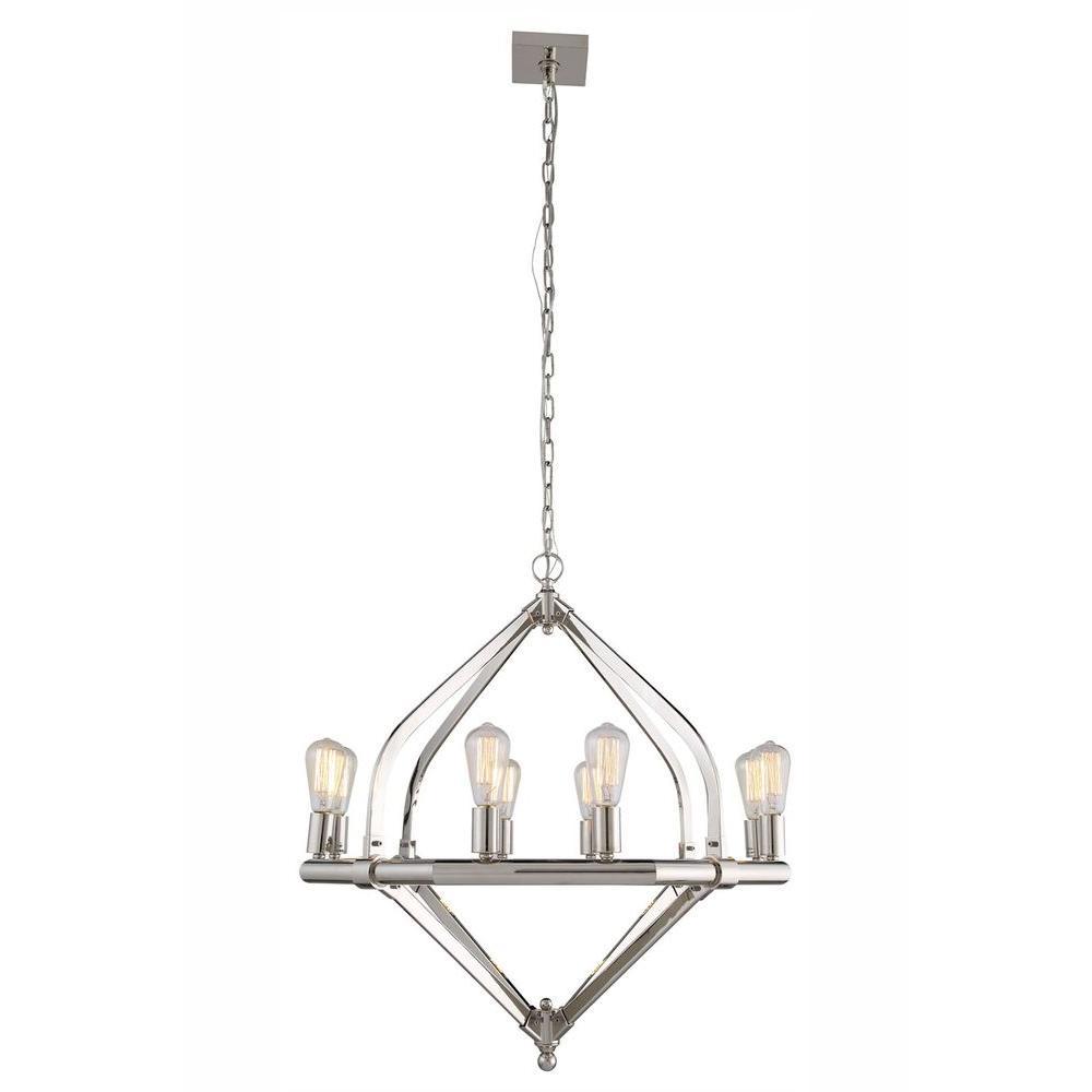 Illumina 8-Light Polished Nickel Pendant Lamp