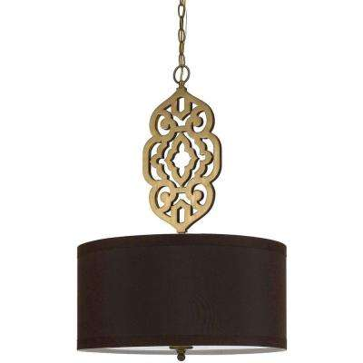 8422 4-Light Brass Pendant