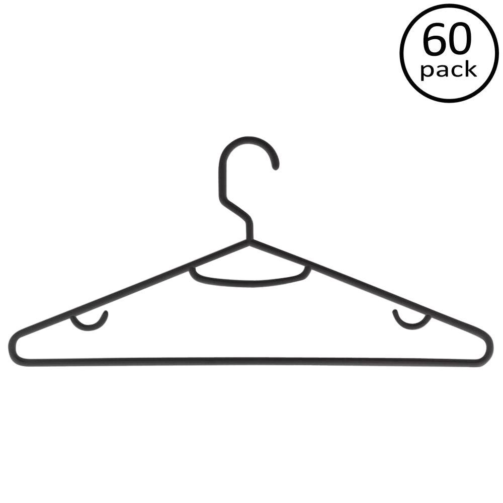 Black Recycled Plastic Hangers (60-Pack)