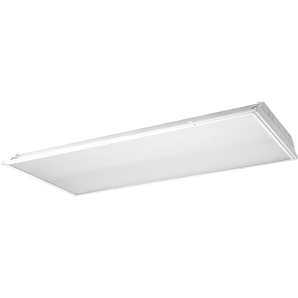 2x4 Led Light Fixture Home Depot: Progress Lighting 45 -Watt White Integrated LED Lensed