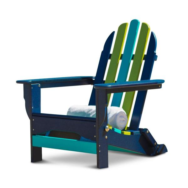 Icon Pacific Folding Recycled Plastic Adirondack Chair