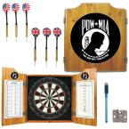 POW Wood Finish Dart Cabinet Set