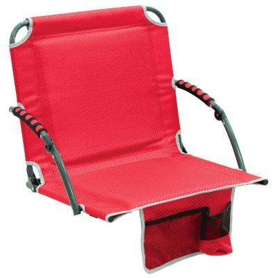 Bleacher Boss Pal Red Folding Stadium Seat with Padded Armrests