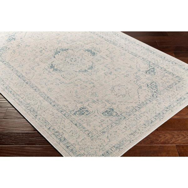 Artistic Weavers Valerio Ivory 2 Ft X 2 Ft 11 In Medallion Indoor Outdoor Area Rug S00161026910 The Home Depot