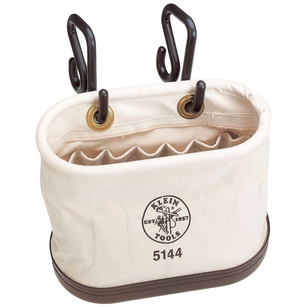 Heavy Duty Basket Lineman Tool Bag Oval Bucket Klein Tools Aerial Pockets Hooks