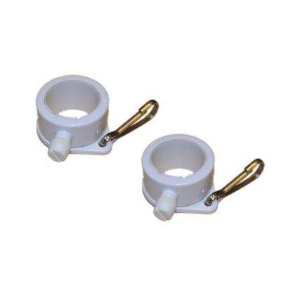 1 in. Dia White Plastic Flagpole Mounting Rings