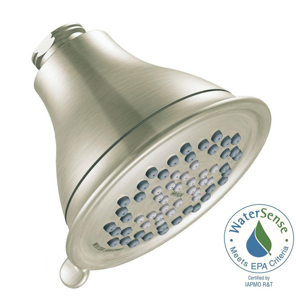 Envi 3-Spray 4 in. Eco-Performance Showerhead in Brushed Nickel