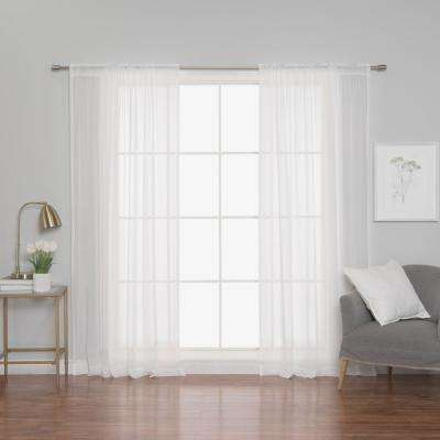 84 in. L Polyester Chiffon Sheer Curtains (2-Pack)