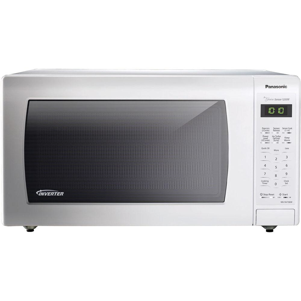 Countertop Microwave In White Built Capable With