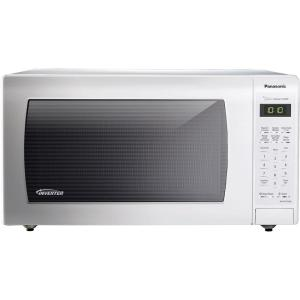 Panasonic 1 6 Cu Ft Countertop Microwave In White Built Capable With Sensor Cooking And Inverter Technology Nn Sn736w The Home Depot