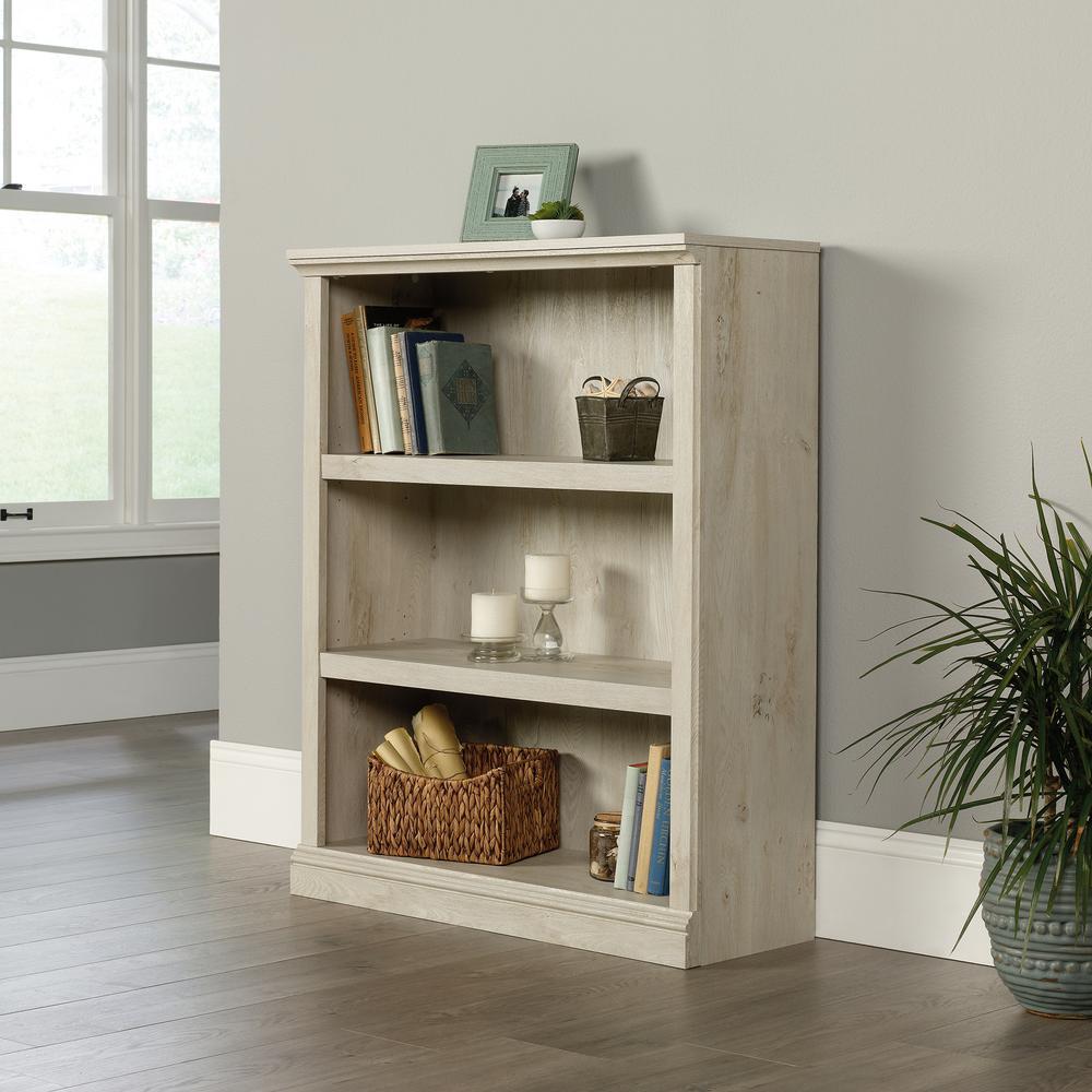 Chalked Chestnut 3-Shelf Bookcase