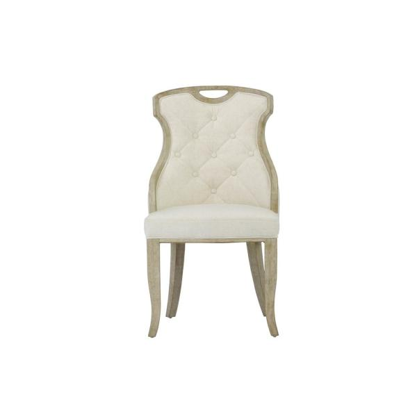Pleasant Sofia Beige Linen Back Dining Chair With Handle Set Of 2 Pdpeps Interior Chair Design Pdpepsorg