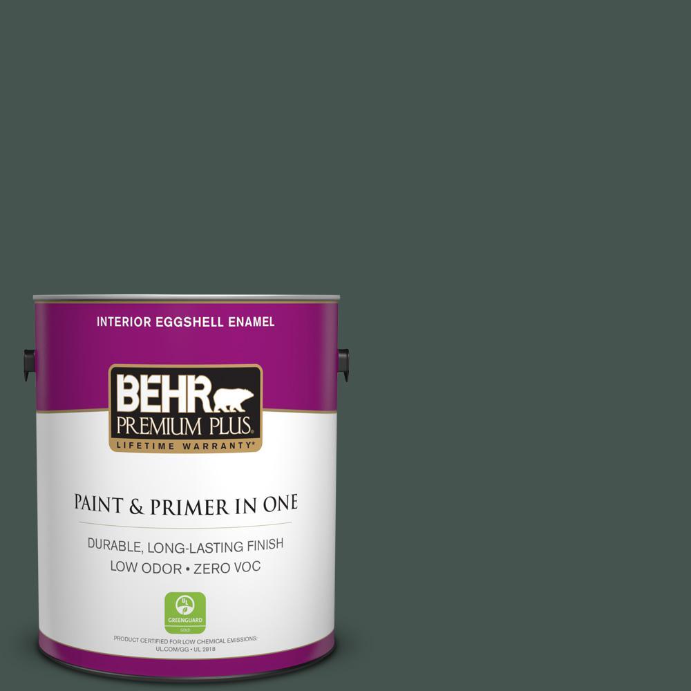 BEHR Premium Plus 1-gal. #ECC-45-3 Conifer Zero VOC Eggshell Enamel Interior Paint