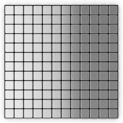 Inoxia Silver Stainless Steel 12.2 in. x 12.2 in. x 5mm Metal Peel and Stick Wall Mosaic Tile (24.81 sq. ft. / Case)