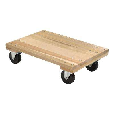 1200 lbs. 16 in. x 24 in. Hardwood Dolly Solid Deck