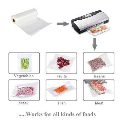 8 in. x 16 ft. Vacuum Sealer Food Storage Roll (2-Roll Pack)