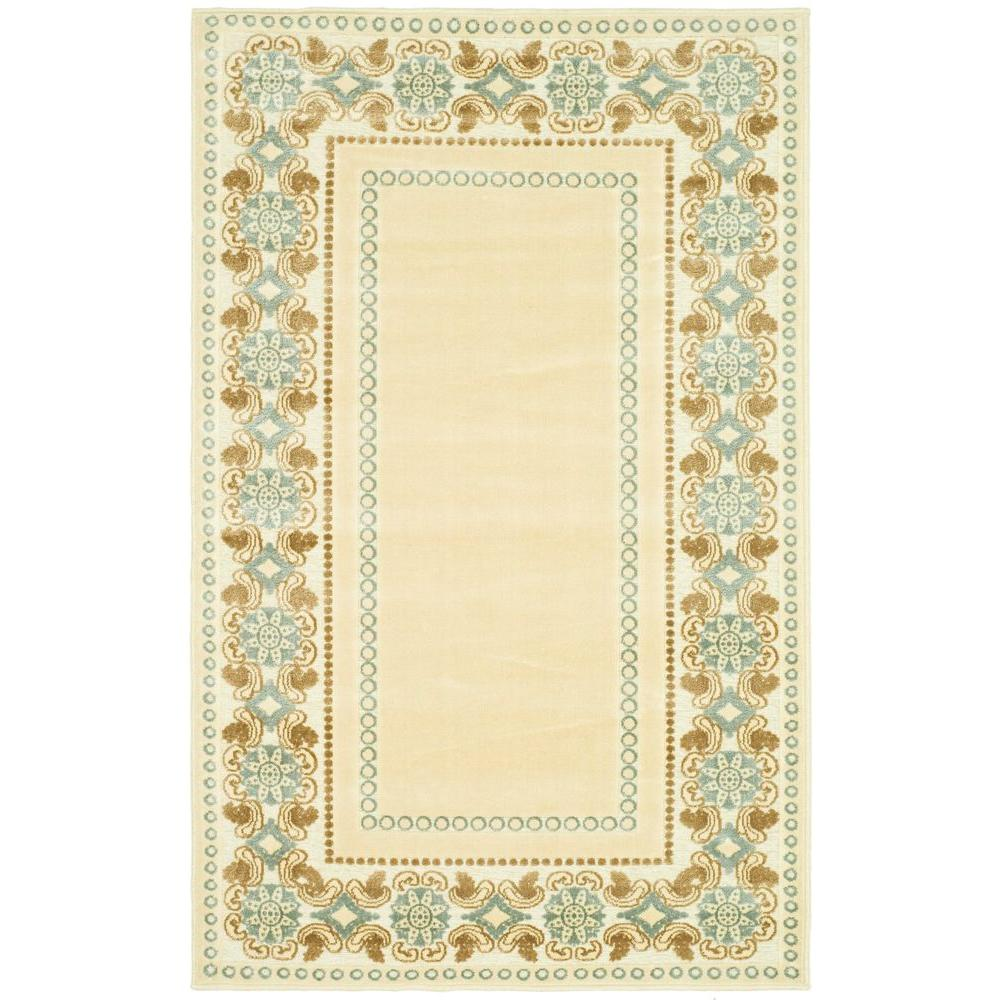 Martha Stewart Living Taj Mahal Cream 2 Ft 7 In X 4 Ft Area Rug Msr4440a 24 The Home Depot