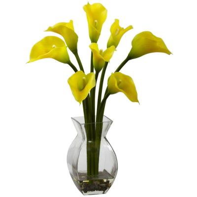 Classic Calla Lily Arrangement in Yellow