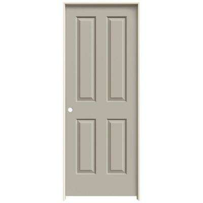28 in. x 80 in. Coventry Desert Sand Painted Right-Hand Smooth Molded Composite MDF Single Prehung Interior Door