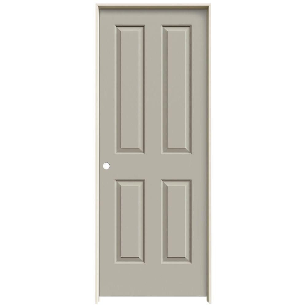 JELD-WEN 32 in. x 80 in. Coventry Desert Sand Painted Right-Hand Smooth Molded Composite MDF Single Prehung Interior Door