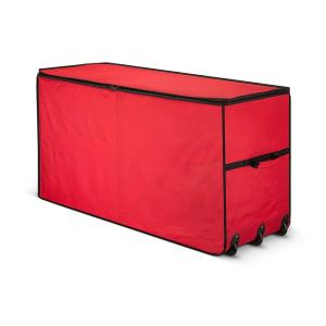 Red Waterproof Artificial Tree Storage Bag for Trees Up to 7.5 ft. Tall