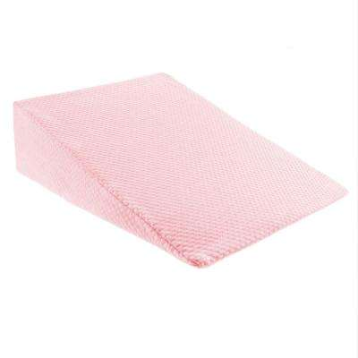 Memory Foam Pillow with Bamboo Fiber Cover Wedge Pillow in Pink