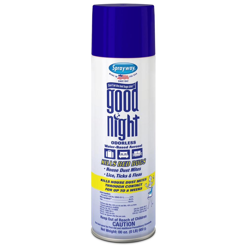Sprayway 16 Oz Good Night Bed Bug And Dust Mite Spray Sw003r The Home Depot