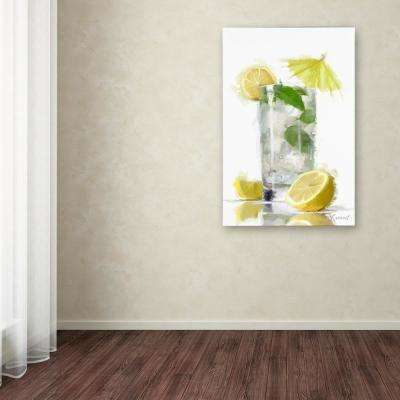 "47 in. x 30 in. ""Mint and Lemon"" by The Macneil Studio Printed Canvas Wall Art"