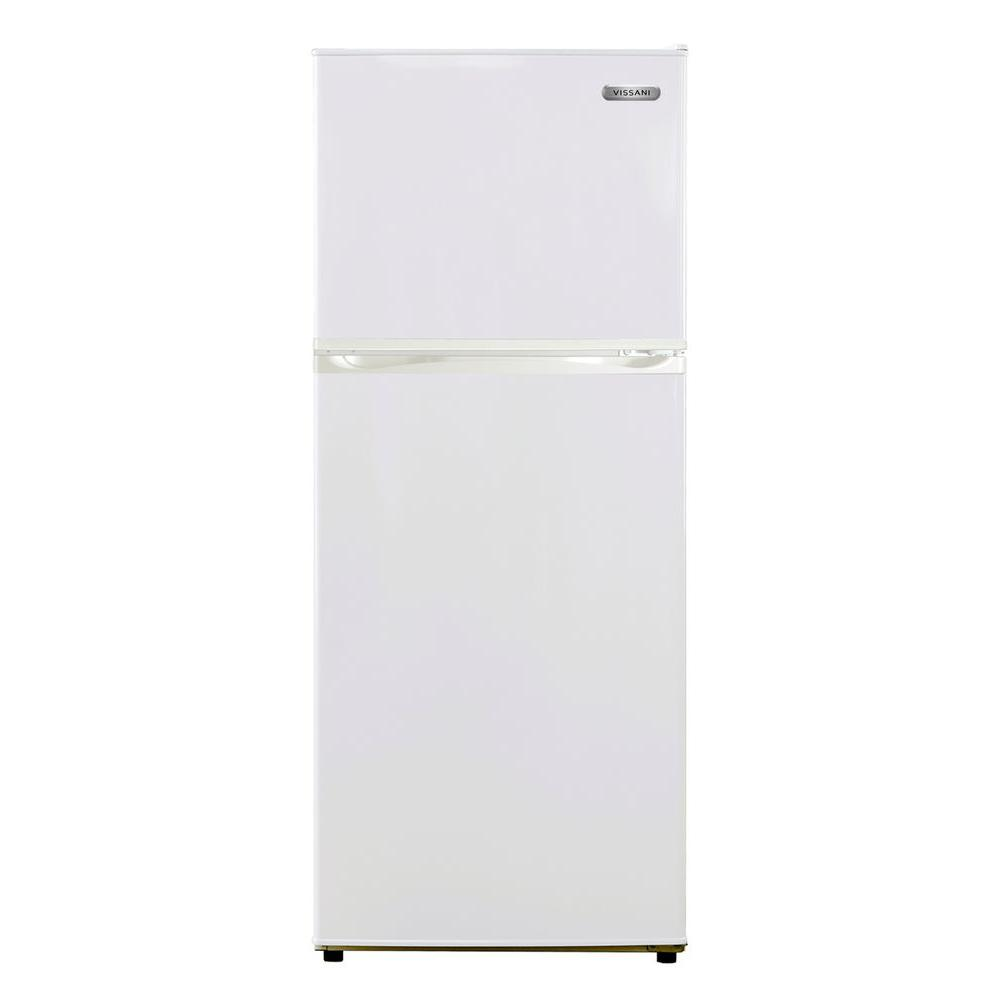 Vissani 24 in. W 10 cu. ft. Top Freezer Refrigerator in White