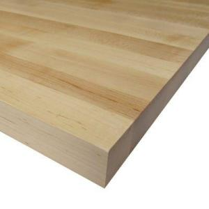 Attractive Maple Bench Top Board (Common: 1 1/2 In. X 25 In. X 6 Ft.; Actual: 1.5 In.  X 25 In. X 72 In.) 966547   The Home Depot