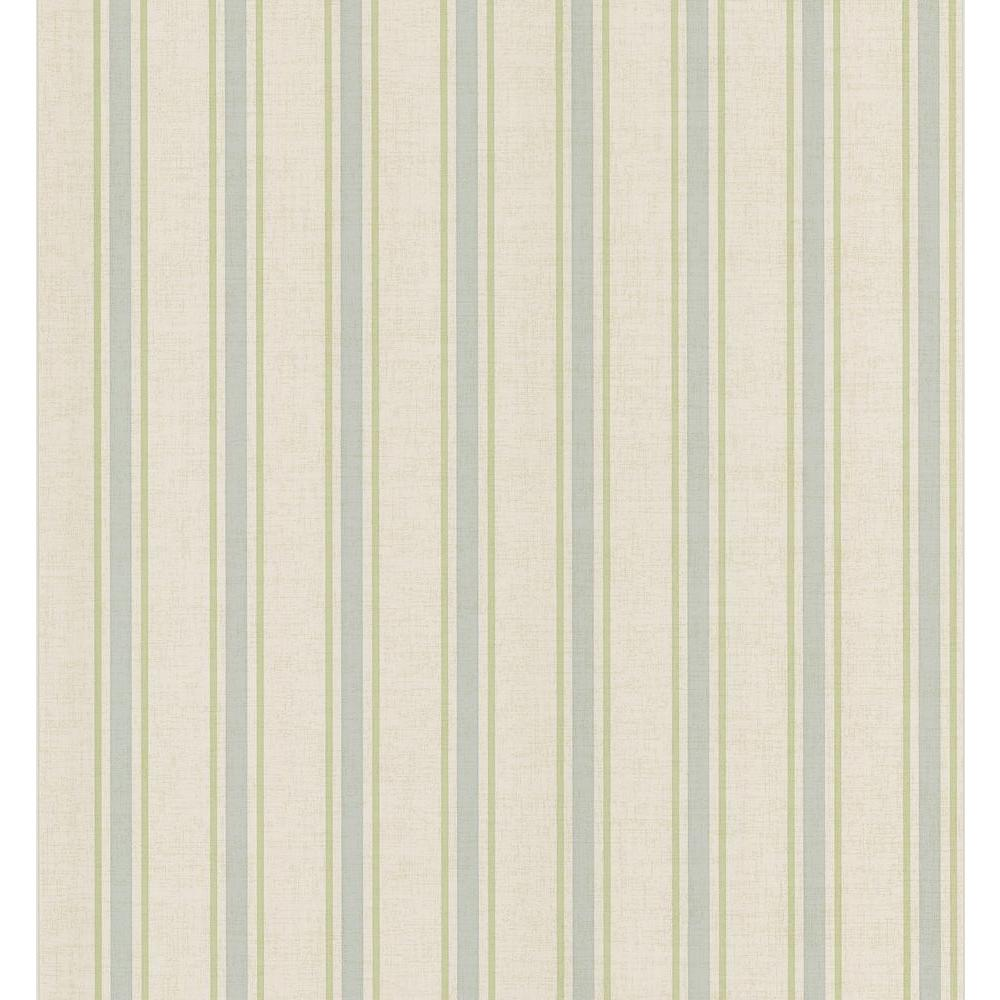 Brewster 56 sq. ft. Linen Stripe Wallpaper