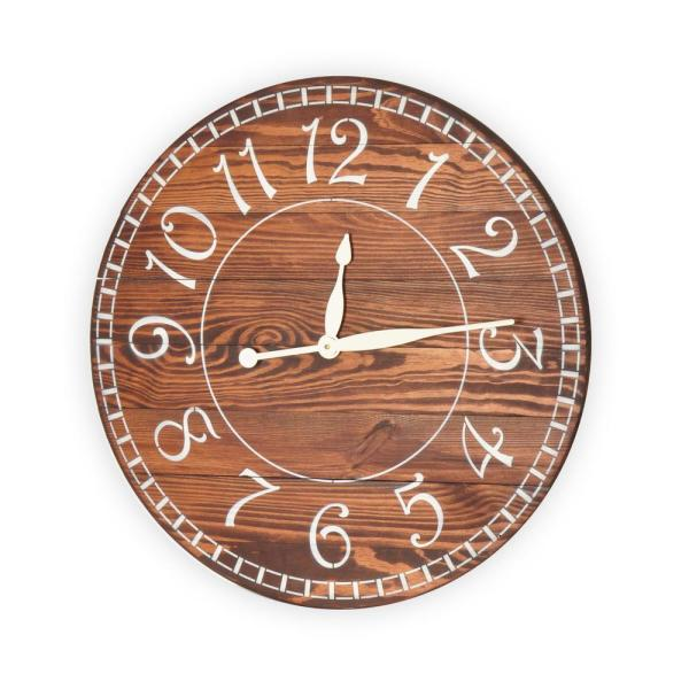 24 in. Carrington Walnut Oversized Wall Clock