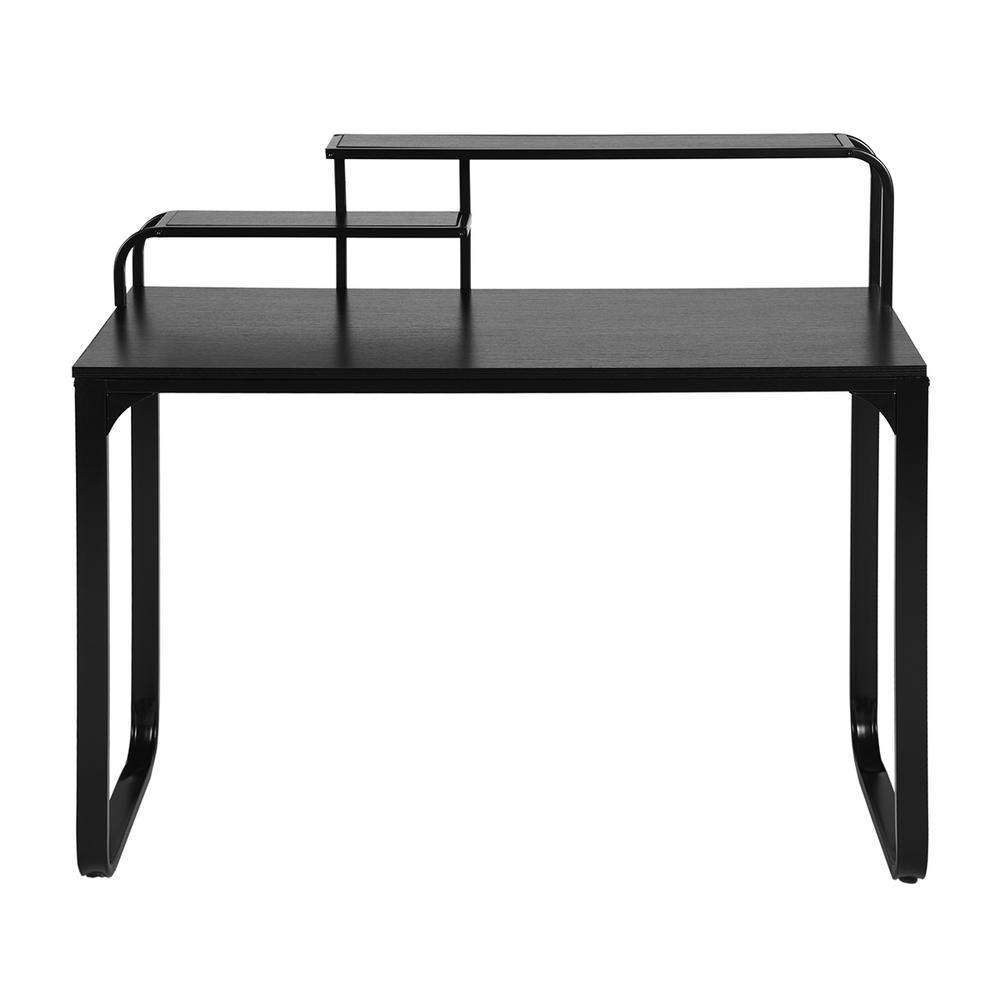 Romont Black Computer Desk with Metal Frame