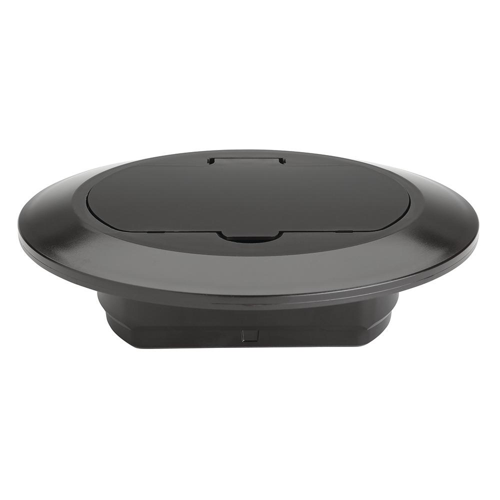 Slater Plastic Brown 1 Gang Round Floor Box Cover