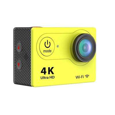 4K Waterproof 12 Mega Pixel Ultra HD Action Camera with Wi-Fi in Yellow