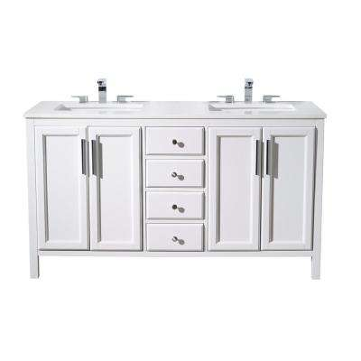 double sink vanity white. H Vanity Double Sink  Bathroom Vanities Bath The Home Depot