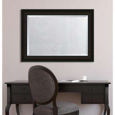 31 in. x 43 in. Framed 3-5/8 in. Mahogany Rope Scoop Resin Frame Mirror