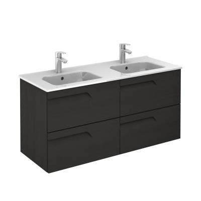 Vitale 48 in. W x 18 in. D Bath Vanity in Nature Grey with Ceramic Vanity Top in White