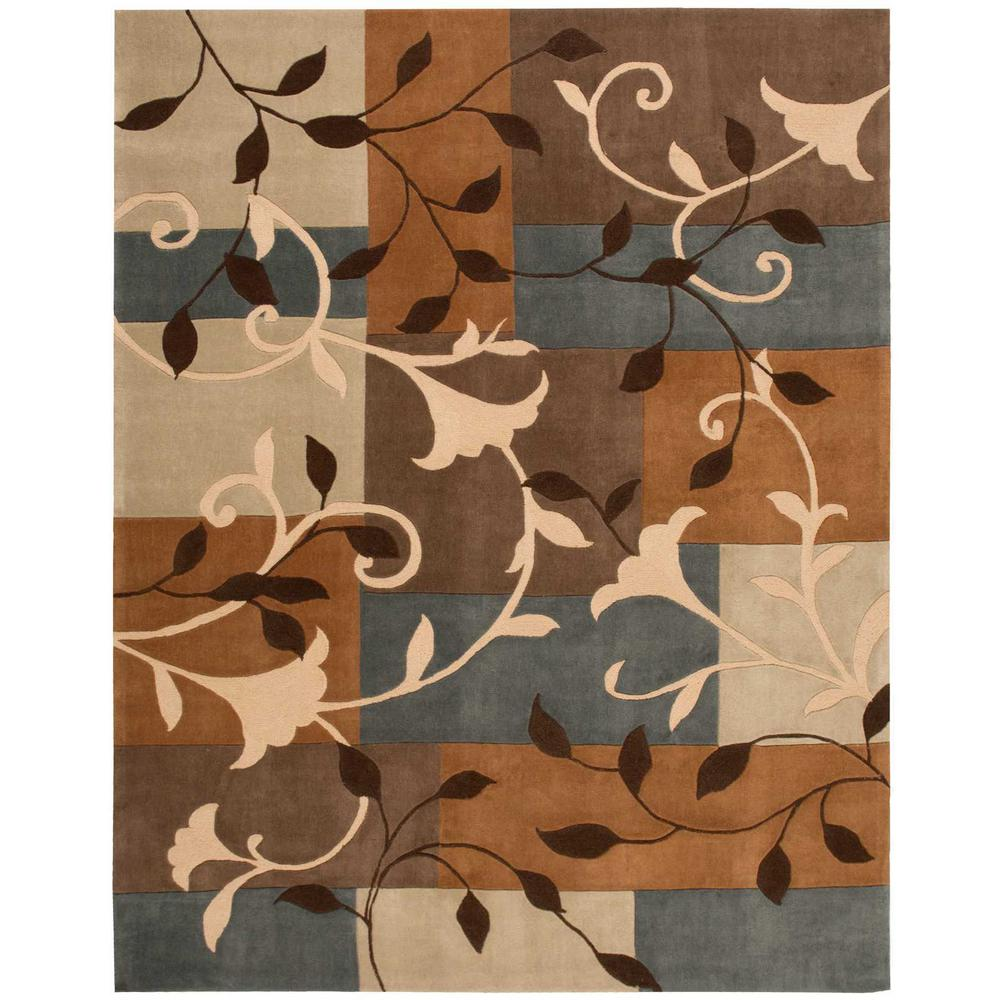 Graphic Floral Multicolor 7 ft. 3 in. x 9 ft. 3