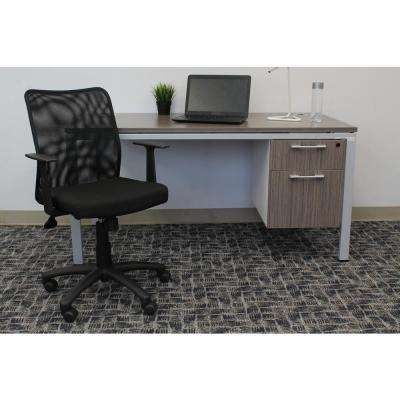 Black Budget Mesh Task Chair with T-Arms