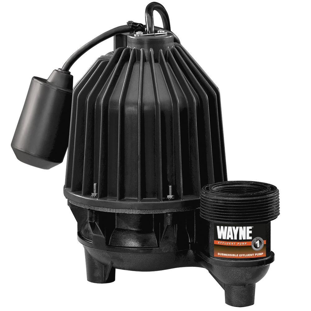 Wayne 1/3 HP Thermoplastic Effluent Pump